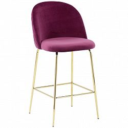 Barová Židle Artdeco Bar Bordó