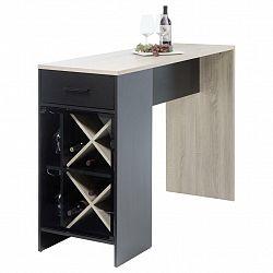 Barový Stůl Virgin Černá/dub Sonoma