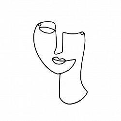 Dekorace Na Zeď Facial 17,5/28cm