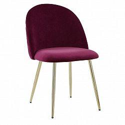 Jídelní Židle Artdeco Bordová