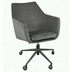 Kancelářská Židle Ze Sametu Nora Samet Tmavěšedá