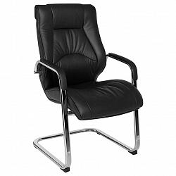 Konferenční Židle Rimini Z Kůže Černá