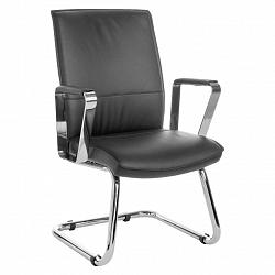 Konferenční Židle Verona Z Kůže Černá