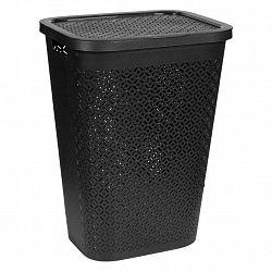 Koš Na Prádlo Terrazzo Černá 55 L