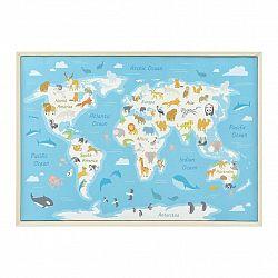 Obraz World Map Animal 50x70x3,5 Cm