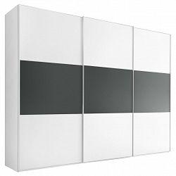 Šatní Skříň S Posuvnými Dveřmi Includo, Bílá / Antracitová