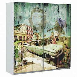 Skříň S Posuvnými Dveřmi Plakato Cuba