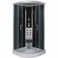 Sprchový Kout Relax Chrom / Černá Š: 90cm
