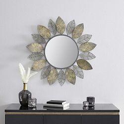 Zrcadlo V Listovém Designu Bella Stříbrné A Zlaté